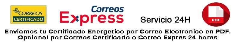 Entrega de tu Certificado Energetico